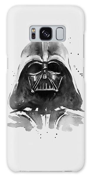 Black And White Art Galaxy Case - Darth Vader Watercolor by Olga Shvartsur