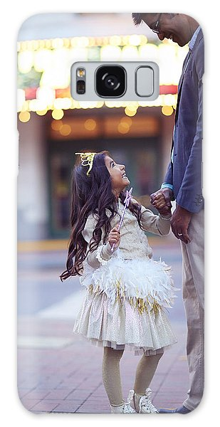 Feather Stars Galaxy Case - Daughter Smiling At Her Father On Urban by Gillham Studios