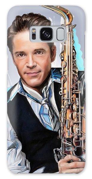 Saxophone Galaxy Case - Dave Koz by Melanie D
