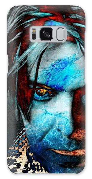 Glam Rock Galaxy Case - David Bowie / Keep Your 'lectric Eye On Me, Babe by Elizabeth McTaggart