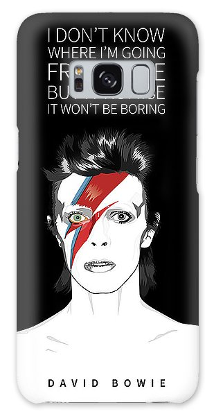 Glam Rock Galaxy Case - David Bowie Quote by BONB Creative