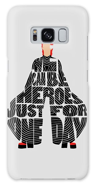 Galaxy Case featuring the digital art David Bowie Typography Art by Inspirowl Design