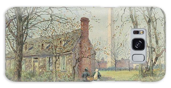 David Burns's Cottage And The Washington Monument, Washington Dc, 1892  Galaxy Case
