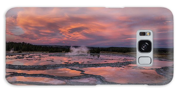 Dawn At Great Fountain Geyser Galaxy Case