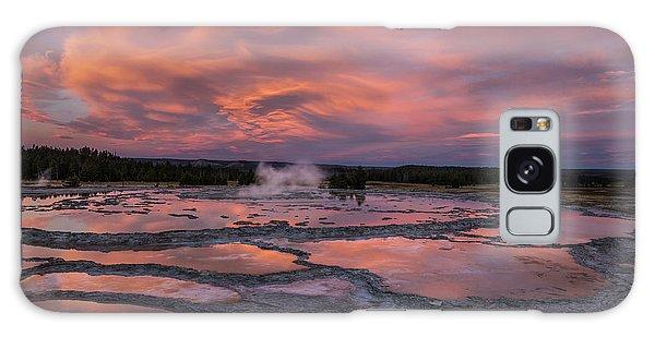 Dawn At Great Fountain Geyser Galaxy Case by Roman Kurywczak
