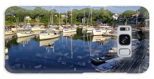 Dawn At Perkins Cove - Maine Galaxy Case