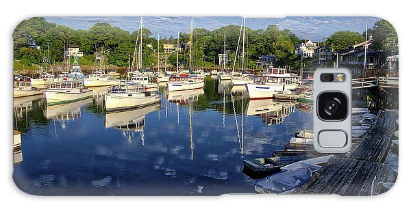 Dawn At Perkins Cove - Maine Galaxy Case by Steven Ralser