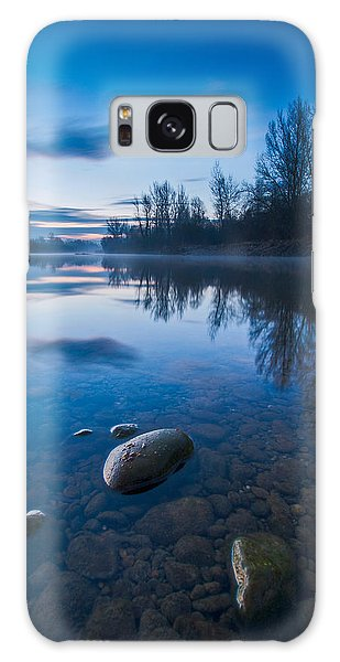 Dawn At River Galaxy Case by Davorin Mance