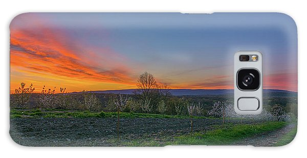 Dawn At Roe Orchards I Galaxy Case by Angelo Marcialis