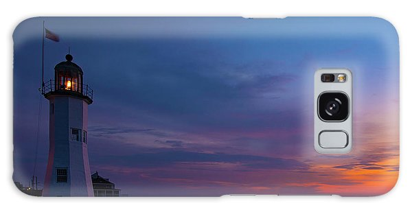 Dawn At Scituate Light Galaxy Case