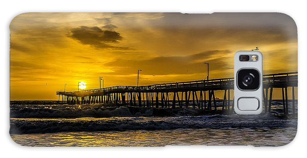 Dawn At The Virginia Pier Galaxy Case