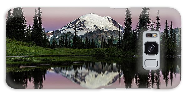 Galaxy Case featuring the photograph Mount Rainier Alpenglow At Tipsoo Lake by Pierre Leclerc Photography