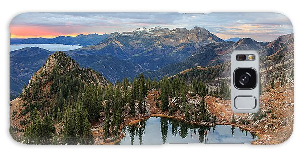 Dawn Glow At Silver Glance Lake. Galaxy Case