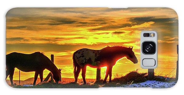 Dawn Horses Galaxy Case