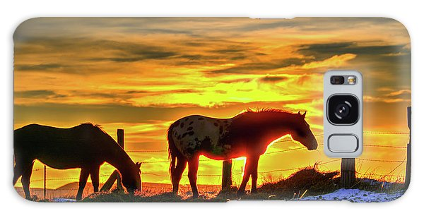 Dawn Horses Galaxy Case