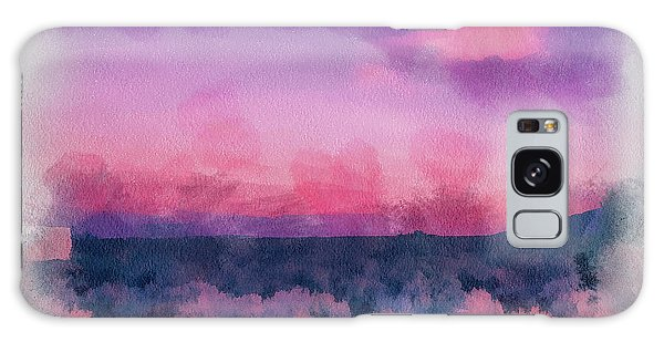 Dawn In Taos In Aquarelle Galaxy Case