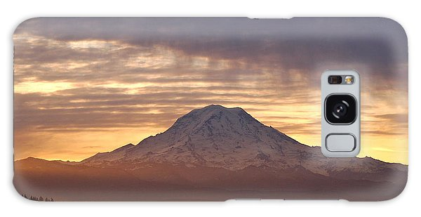 Dawn Mist About Mount Rainier Galaxy Case by Sean Griffin