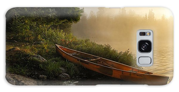 Dawn On Boot Lake Galaxy Case by Larry Ricker