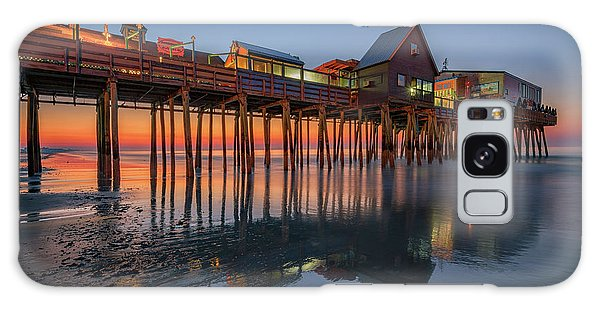 Galaxy Case featuring the photograph Dawn On Old Orchard Beach by Rick Berk