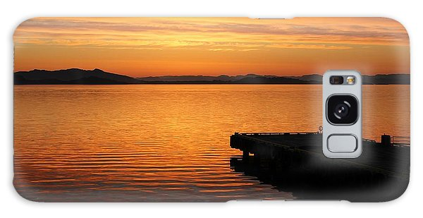 Dawn On The Water At Dusavik Galaxy Case