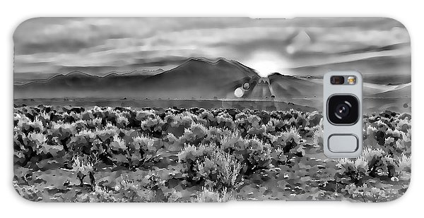 Dawn Over Magic Taos In B-w Galaxy Case