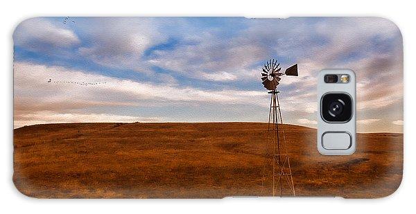 Dawn Prairie Windmill Galaxy Case