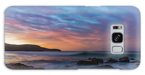 Dawn Seascape With Rocks And Clouds Galaxy Case