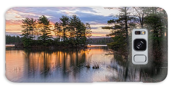 Dawn Serenity At Lake Tiorati Galaxy Case by Angelo Marcialis