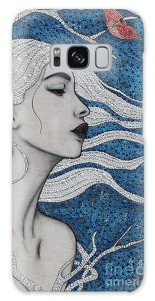Galaxy Case featuring the mixed media Day Dreamer by Natalie Briney