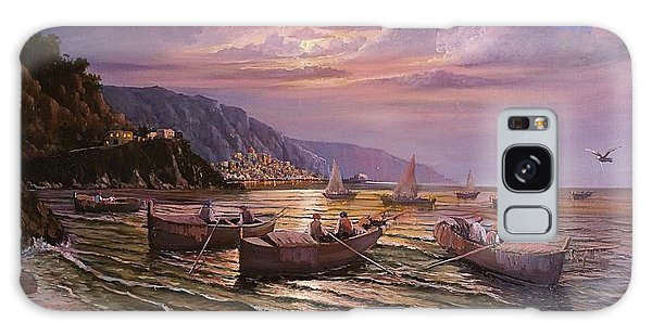 Day Ends On The Amalfi Coast Galaxy Case