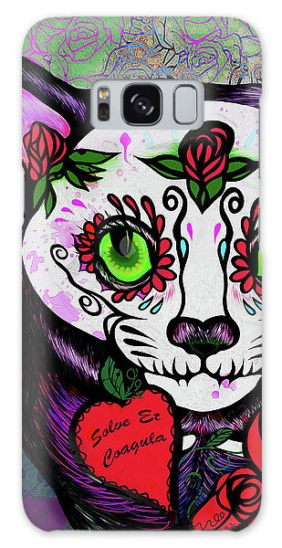 Day Of The Dead Cat Galaxy Case