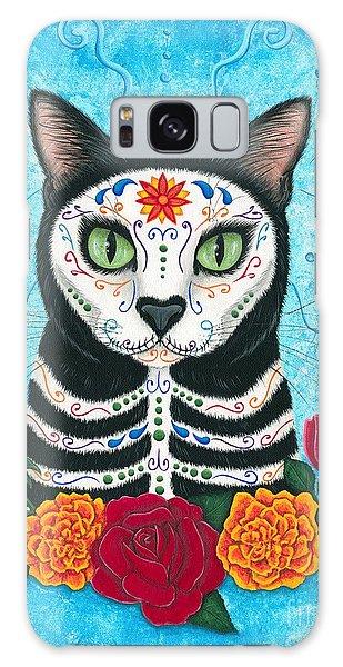 Day Of The Dead Cat - Sugar Skull Cat Galaxy Case