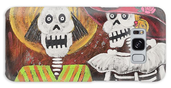 Day Of The Dead Couple Galaxy Case