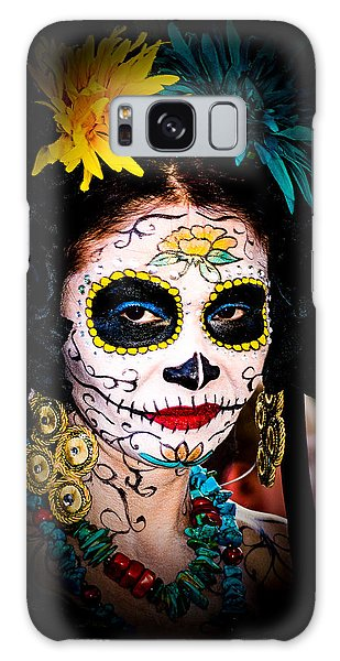 Day Of The Dead Eyes Galaxy Case