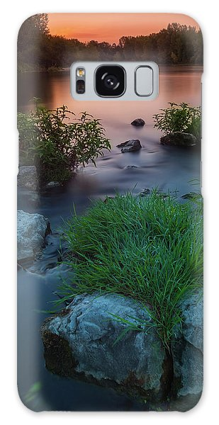 Daybreak Over The Old Riverbed Galaxy Case
