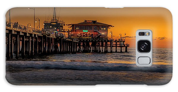 Daylight Turns Golden On The Pier Galaxy Case