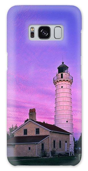 Days End At Cana Island Lighthouse - Fm000003 Galaxy Case