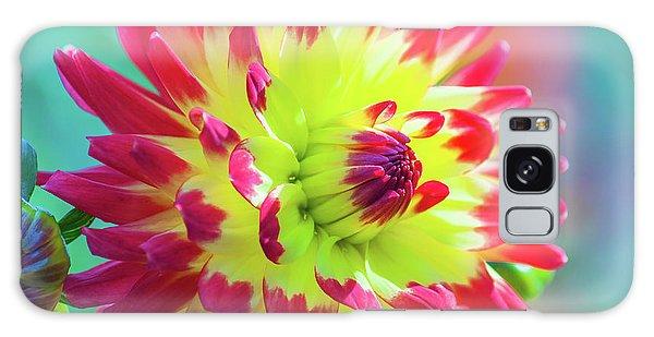 Dazzling Dahlia Flower Galaxy Case