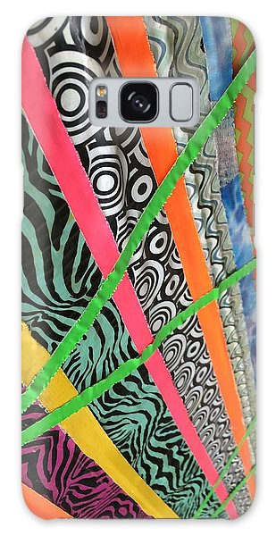 Dazzling Delirious Duct Tape Diagonals Galaxy Case by Douglas Fromm