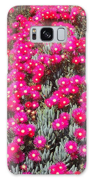 Dazzling Pink Flowers Galaxy Case by Mark Barclay