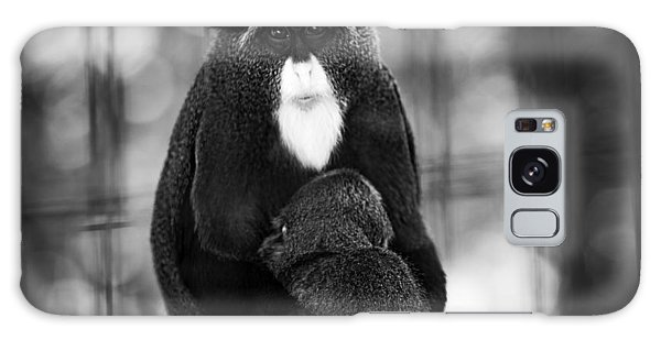 De Brazza's Monkey Galaxy Case by Jason Moynihan