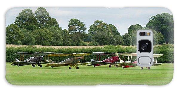 Galaxy Case featuring the photograph De Havilland Tiger Moths Line-up by Gary Eason