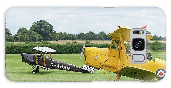 Galaxy Case featuring the photograph De Havilland Tiger Moths Taxiing by Gary Eason