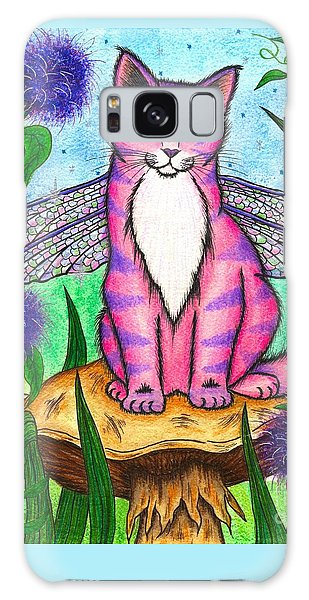 Dea Dragonfly Fairy Cat Galaxy Case