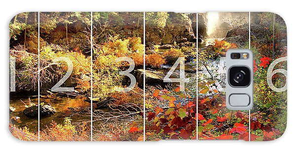 Dead River Falls Marquette Michigan Panoramic Map Galaxy Case