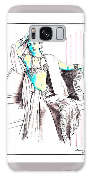 Deadly Diva, Mata Hari -- Portrait Galaxy Case