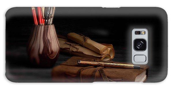 Swan Galaxy S8 Case - Dear Diary by Tom Mc Nemar
