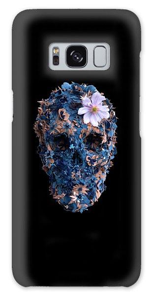 Skull 9 T-shirt Galaxy Case by Herb Strobino