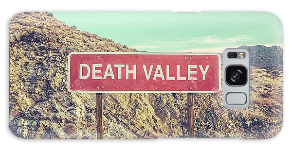 Southwest Usa Galaxy Case - Death Valley Sign by Mr Doomits