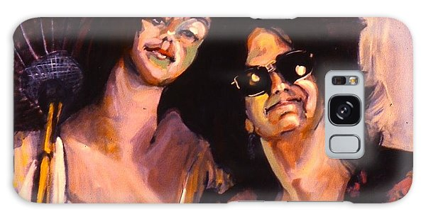 Debbie And Kate Galaxy Case by Les Leffingwell